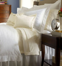 Sferra MADELYN Duvet Cover F/Queen Ivory Egyptian Cotton Sateen New