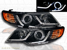 FIT 2010-2013 FORTE / FORTE COUPE CCFL HALO PROJECTOR HEADLIGHTS LED STRIP BLACK