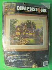 Dimensions Twilight Cottage Designed By Lisa Burns Needlepoint 2441 Open Package