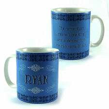 """RYAN NAME MEANING MUG """"LITTLE KING"""" PERSONALISED GIFT CUP PRESENT COFFEE TEA"""