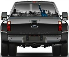 New York City 9/11 Liberty Statue B/W Rear Window Graphic Decal for Truck