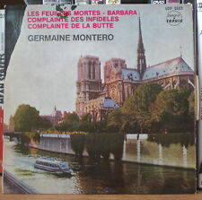 GERMAINE MONTERO LES FEUILLES MORTES FRENCH EP