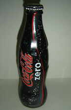 COCA COLA ZERO  limited glass BOTTLE ARGENTINA FULL 2007 black