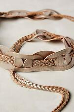New Anthropologie Leather Links Belt Sz S M Size Small Medium NIP Gold
