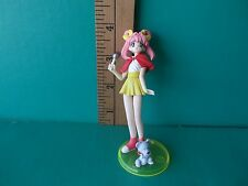 "Idol Densetsu Youko Tanaka  4""in PVC Figure Sexy Pink hair with red shawl + pet!"
