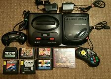 Sega megadrive 2 and Mega CD 2 PAL with 9 games 2 joypads superb condition retro