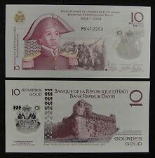 Haiti Polymer Plastic Banknote 10 Gourdes 2013 2017 UNC