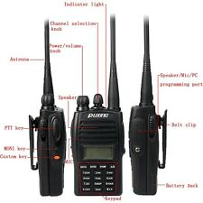 New Puxing PX-UV973 5W UHF/VHF Walkie Talkie 128CH VOX CTCSS/DCS DTMF TOT Radio