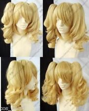 NEW Blonde Mixed COSPLAY Split -Type Anime WIG And With Two Pigtails