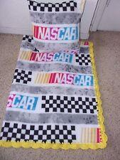 NASCAR SUPER SOFT -BABY-BLANKET-FLEECE-CROCHET-EDGE- & PILLOW COVER