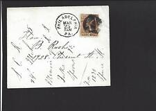 PHILADELPHIA PENNSLYVANIA COVER. 2CT BROWN, BANKNOTE. LOCAL USE.