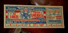 "CUSTOM CAPTAIN AMERICA TFA VS. BOXER JOE LOUIS ""1942"" BOXING EXHIBITION TICKET"