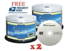200-Pack Optical Quantum Logo Top DVD+R DL Dual Double Layer Disc 8.5GB