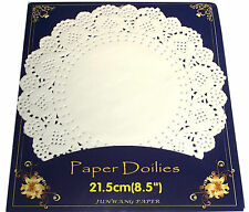 parquet de 20 napperon de table en papier RONDE diamètre 21,5 cm serviette