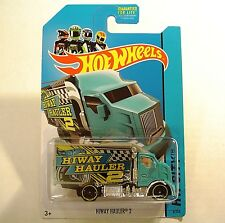 2014 Hot Wheels 6/250. BLUE Hiway Hauler 2 Truck.  NEW in Package!