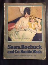 RARE OLD 1923 SEARS CATALOG Camping Fishing Guns Clothes Roebuck TOOLS