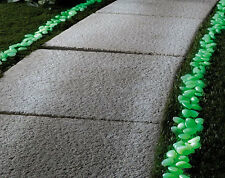 200 Glow In The Dark Stones Pebbles Garden Feature Path Driveway Patio Borders