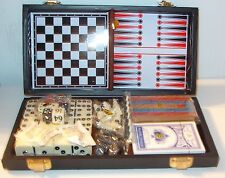 7 IN 1  TRAVEL GAME SET CHECKERS, CHESS, BACKGAMMON, DOMINOES, CARDS, DICE