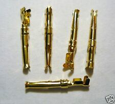 5 Gold Plated Cartridge Clips/Connectors/Tags For Turntable Tonearm Rewirin