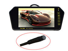 US - 7 Inch TFT LCD Widescreen Car Rear View Mirror Monitor for Backup Camera