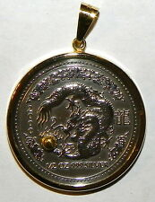 SILVER DRAGON GOLD BALL PENDANT 0.35 grams of John's Gold from Porcupine Creek