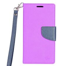 For LG Aristo Premium Leather 2 Tone Wallet Case Pouch Flip Cover Accessory