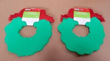 "Creatology Holiday Foam Shapes-8pc-8"" x 6""-Michaels Stores-3+-Christmas Wreath"