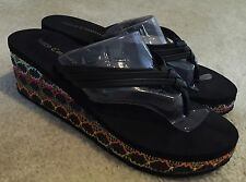 Women's Juicy Couture Braided Straw Couture Flip  Flops  Sz. 7 - 8 M