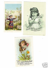 3 Trade Cards Allen's Root Beer Extract Lowell, Mass 1880s