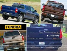 CHROME TOYOTA TUNDRA 14 15 16 TAILGATE LETTERS REAR INSERTS NOT DECALS 2014-2016