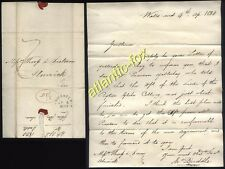 1830 JOHN BUDDLE (1773-1843) Wall's End, Letter re; RYTON GLEBE COLLIERY