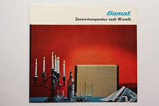 originale Werbung Gebrauchsanleitung DDR Gamat Aussenwand-Gasraumheizer (126)