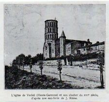 1924  --  L EGLISE DE VERFEIL ET SON CLOCHER    3L324