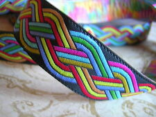 Quality SCA Celtic Rainbow Jacquard Woven Ribbon Sewing trim 25 Y x 3/4""