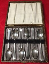1920 A.J Bailey &Son Birmingham-Set of 6 Sterling Silver Teaspoons Everest Works