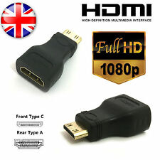 HDMI Female to Mini HDMI Type C Male Adapter Convertor Gold Plated TV LCD HDTV
