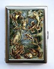 Frogs Cigarette Case Wallet Business Card Holder zoology animals