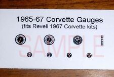 1967 CORVETTE GAUGE FACES! -1/25 scale- for REVELL COUPE AND CONVERTIBLE KITS