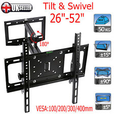Full Motion Wall Mount Swivel Tilt Bracket LED LCD TV 26 30 42 52 60 Flat Screen