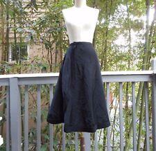 Vintage MADELENE Black 1920's Crepe Satin Wrap Skirt PARIS XS 42 RARE