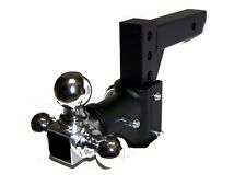 "H D Tri-ball Swivel Adjustable Trailer Tow Drop Hitch Ball Mount   2"" Receiver"