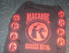 MACABRE MURDER METAL MEDIUM LONGSLEEVE SHIRT grindcore death  metal true crime