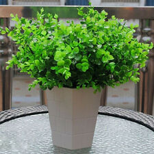 7-Branches Artificial Plastic Green Eucalyptus Plant Flowers Office Room Decor