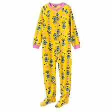 NWT Despicable Me Minions Girls Footie Fleece Sleeper Pajamas PJ L/S Size 4 New!