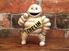 "Michelin Man Bibendum Cast Iron 6"" Tall Vintage Coin Bank"