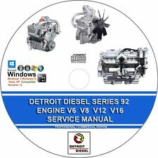 DETROIT DIESEL SERIES 92 ENGINES 6, 8, 12 & 16 CYLINDER SERVICE REPAIR MANUAL CD