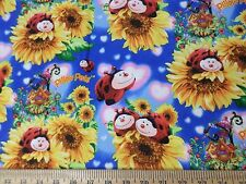 Pillow Pets Ladybug Sunflower Garden Fabric  1 Porta Crib Sheet or Pack and Play