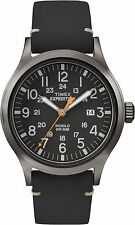Timex Mens Expedition Watch TW4B01900 Leather strap, Indiglo Night Light & Date