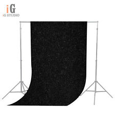 1.5m x 3m Backdrop Solid Black Seamless Muslin Cotton Background Screen Sheet