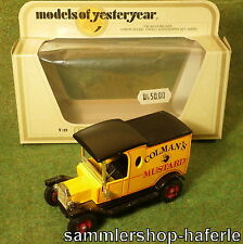 Matchbox LKW Auto Models of Yesteryear Y-12 Ford Model T 1912  M 1:35 in OVP